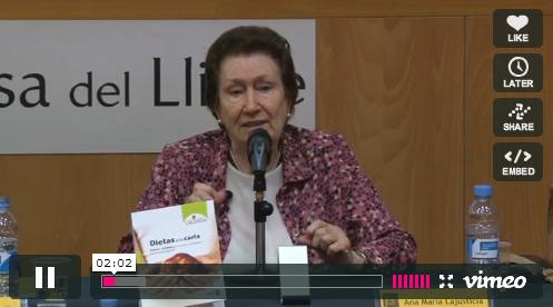 Ana María Lajusticia, pautas de alimentación para una vida sedentaria
