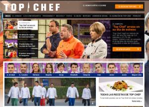 Web del programa Top Chef